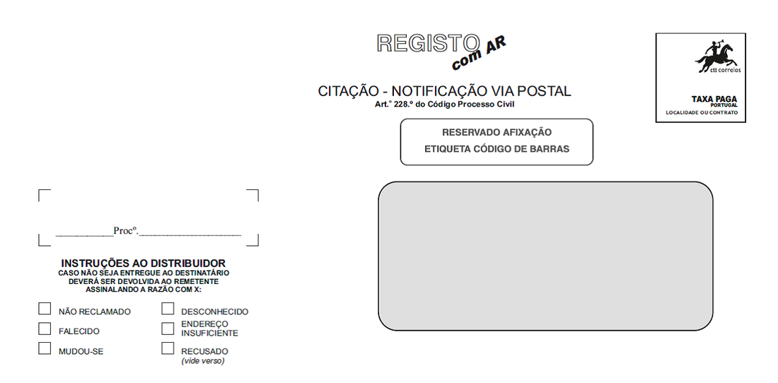 Aprovadas novas regras para a citação e notificação por via postal